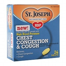 St. Joseph High Blood Pressure Chest Congestion & Cough Tablets