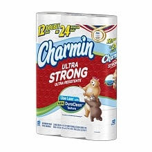 Charmin Ultra Strong Bath Tissue, Double Rolls