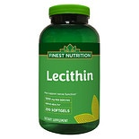 Finest Nutrition Lecithin 1200 mg Dietary Supplement Softgels