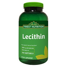 Finest Nutrition Lecithin 1200mg Softgels