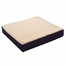 "Essential Medical Fleece Covered Wheelchair Cushion - 16"" x 16"" x 3"""