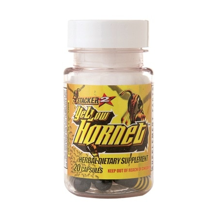 Stacker 2 Yellow Hornet Herbal Dietary Supplement, Capsules - 20 ea