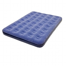 Pure Comfort Full Size Air Bed with External Battery Pump Flock Top