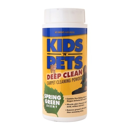 Kids'N Pets Deep Clean Carpet Powder Spring Green