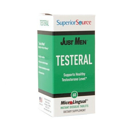 Superior Source Just Men Testeral Healthy Testosterone Level Support, Dissolve Tablets