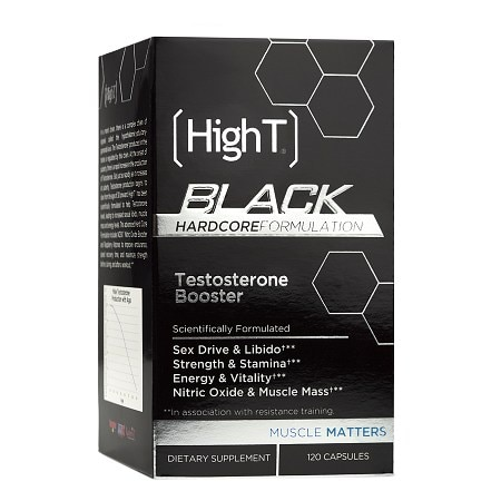 HighT Black Hardocre All Natural Testosterone Booster, Capsules