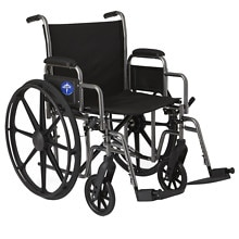 Steel Wheelchair with Swingaway Footrests 20in Seat