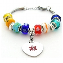 Hope Paige Pandora Style Bracelet (Adjustable) - 6 - 8 -