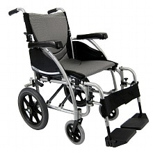 Karman 20 inch Transport Wheelchair with Swing-Away Footrests
