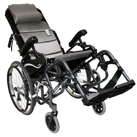 Karman Tilt in Space Lightweight Reclining Wheelchair Elevating 18 inch