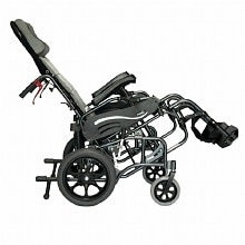 Karman 18 inch Tilt in Space Reclining Transport Wheelchair with Elevating Legrest