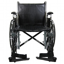 Karman 20 inch Heavy Duty Wheel Chair with Removable Armrest & Adjustable Height