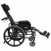 16 inch Lightweight Reclining Wheelchair with Removable Desk Armrest