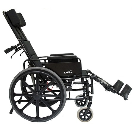 Karman 20 inch Lightweight Reclining Wheelchair with Removable Desk Armrest