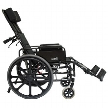 22 inch Lightweight Reclining Wheelchair with Removable Desk Armrest