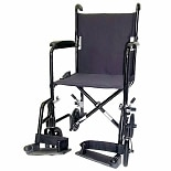 19 inch 19 lbs. Lightweight Transport Chair with Removable Footrest, Black