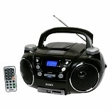 Jensen Portable AM/FM Stereo CD Player with MP3 Encoder/Player CD-750 Black