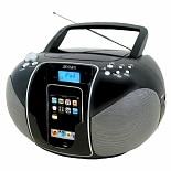 Jensen Portable Docking CD Music System for iPod JISS-115 Black