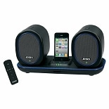 Jensen Docking Digital Music System with Wireless Speakers for iPod & iPhone JISS-600I Black