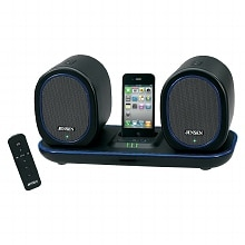 Docking Digital Music System with Wireless Speakers for iPod & iPhone JISS-600I, Black