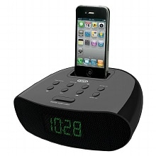 Jensen Docking Digital Clock Radio for iPod & iPhone JIMS-70I Black