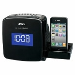 Jensen Docking Digital CD Clock Radio for iPod & iPhone JIMS-215I Black