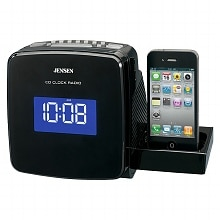 Docking Digital CD Clock Radio for iPod & iPhone JIMS-215I, Black