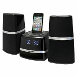 Jensen Docking Station with Speakers for iPod & iPhone JIMS-252I Black