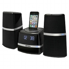 Docking Station with Speakers for iPod & iPhone JIMS-252I, Black