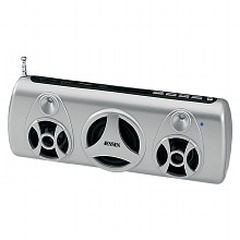 Portable Stereo Speaker with FM Radio SMPS-575, Silver