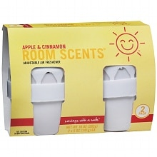 Room Scents Adjustable Air Fresheners 2 PackApple & Cinnamon, White