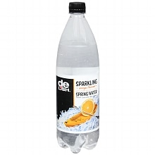 Good & Delish Sparkling Spring Water 33.8 oz Bottle Orange