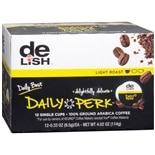 Good & Delish Coffee Single Cup 12 Pack Daily Perk