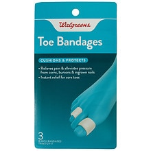 Walgreens Toe Bandages, 4 inch 3 Pack