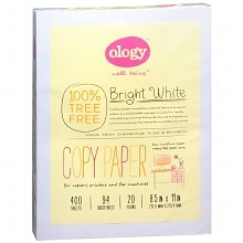 Ology Bright White Treeless Copy Paper, 400 Sheets