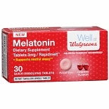Walgreens Melatonin Melts 3mg 30 Count Cherry