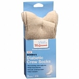 Walgreens Diabetic Crew Socks for Women Sizes 6-10 Khaki