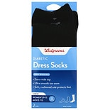 Walgreens Diabetic Dress Crew Socks for Women Sizes 7-12 Black