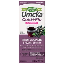 Nature's Way Umcka Soothing Syrup, Intensive Cold + Flu Berry Flavor