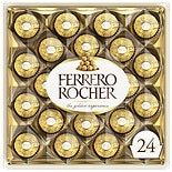 Ferrero Rocher Diamond Gift Box, 24 Piece Hazelnut