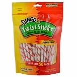 Dingo Twist Sticks, Chicken in the Middle, 50 Pack