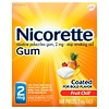 Nicorette Nicotine Gum, 2 mg Fruit Chill