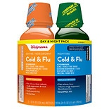 Walgreens Cold & Flu Liquid Daytime & Nighttime 2 Pack
