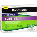 Nighttime Cold + Flu Liquid Capsules