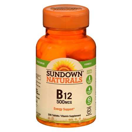 Sundown Naturals High Potency B-12 500mcg, Tablets