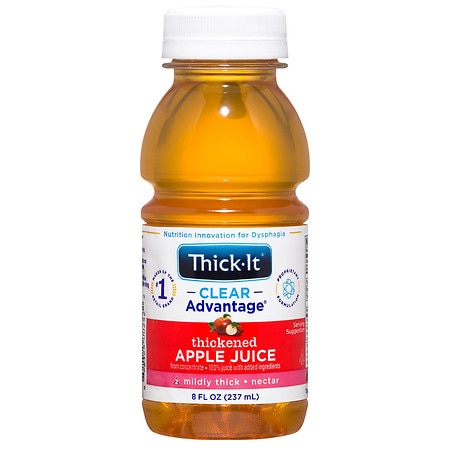 Thick-It AquaCareH20 Thickened Apple Juice Nectar Consisency,8 oz Bottles