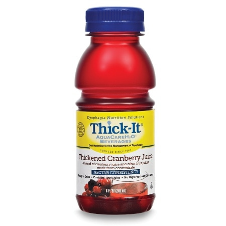 Thick-It AquaCareH20 Thickened Cranberry Juice Nectar Consistency,8 oz Bottles