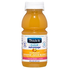 Thick-It AquaCareH20 Thickened Orange Juice Blend 8 oz Bottle Nectar Consistency