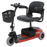 wag-3-Wheel Mobility Travel Scooter by Rascal Red
