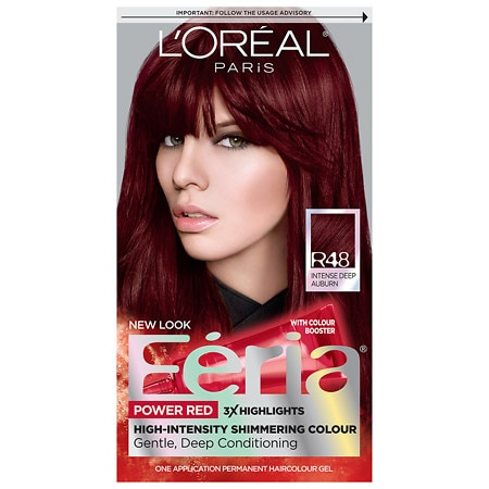 L39Oreal Paris Feria Permanent Haircolor Intense Deep AuburnRed Velvet R